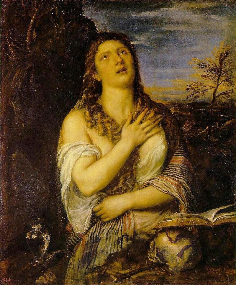 Unknown Artist Penitent Mary Magdalen By Titian