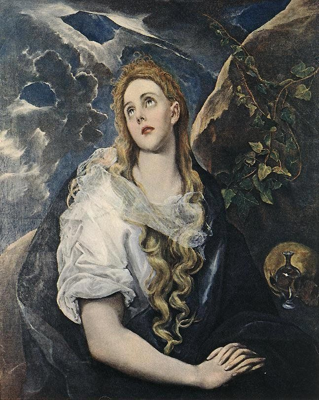 Unknown Artist Saint Mary Magdalene By El Greco