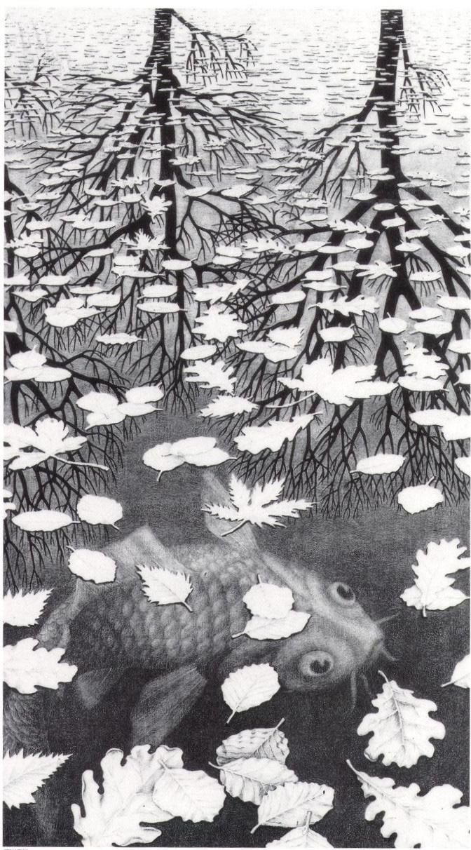 Unknown Artist MC Escher Three Worlds