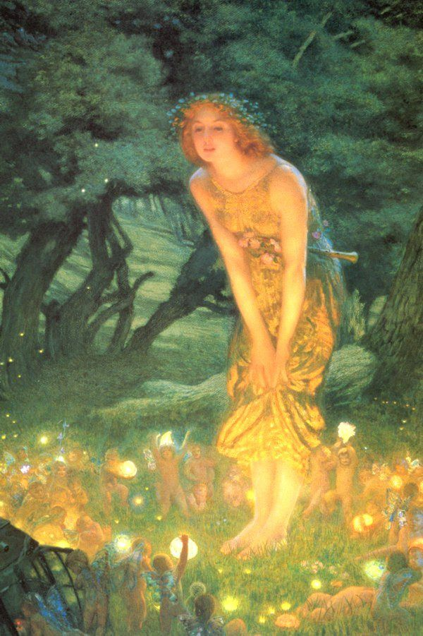Unknown Artist Mid-Summer's Eve by Edward Robert Hughes
