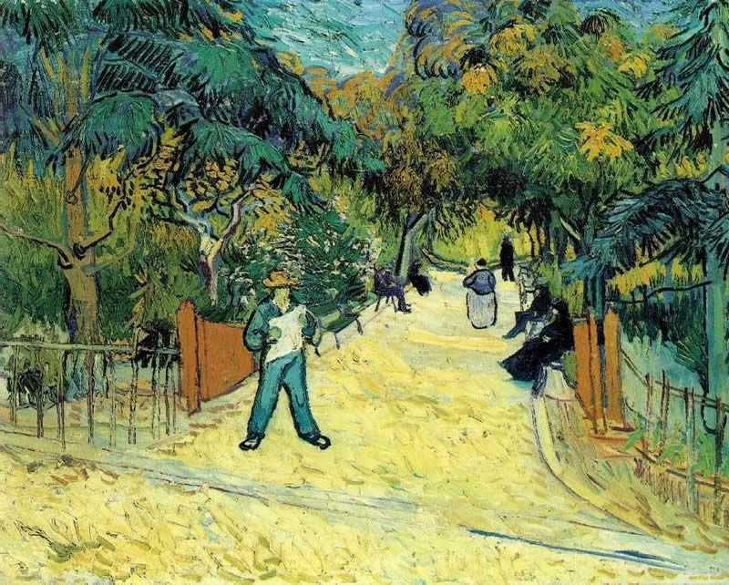 Vincent van Gogh Entrance to the Public Garden in Arles