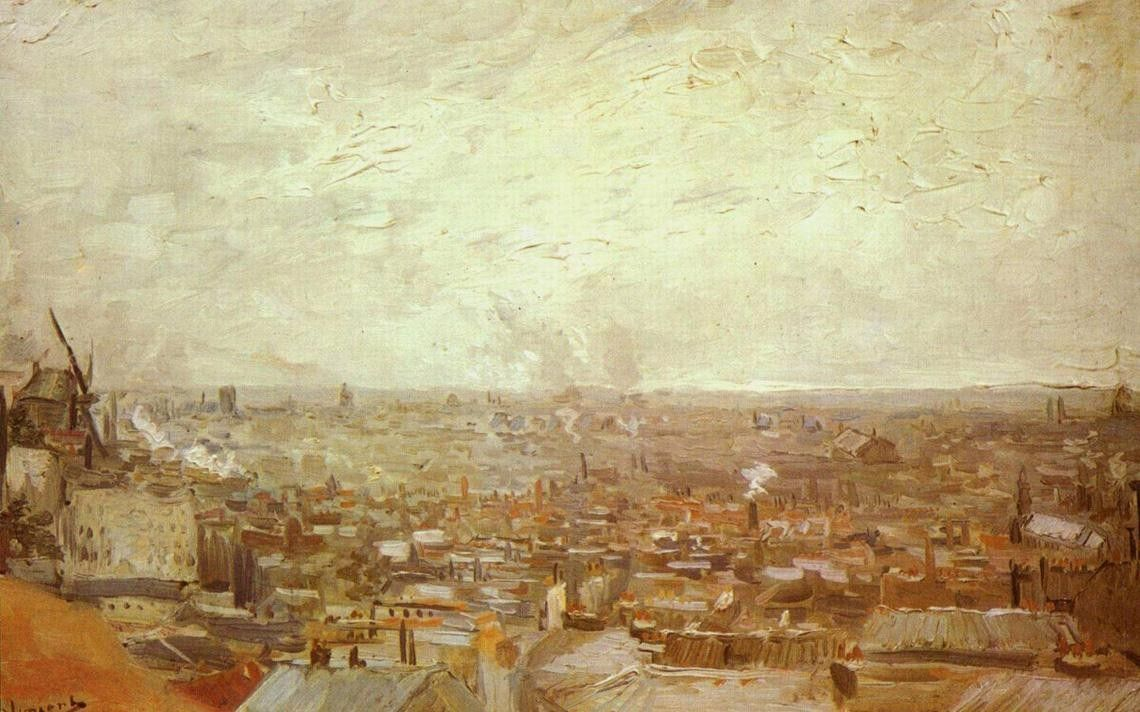 Vincent van Gogh View from Montmartre