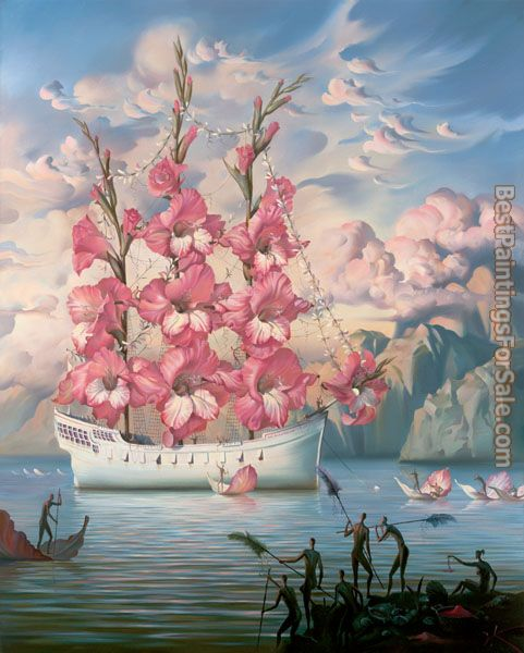 Vladimir Kush Arrival of the Flower Ship