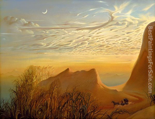 Vladimir Kush anticipation of nights shelter
