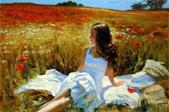 Vladimir Volegov Picnic amongst the Poppies