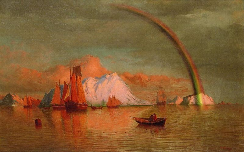 William Bradford Arctic Sunset with Rainbow