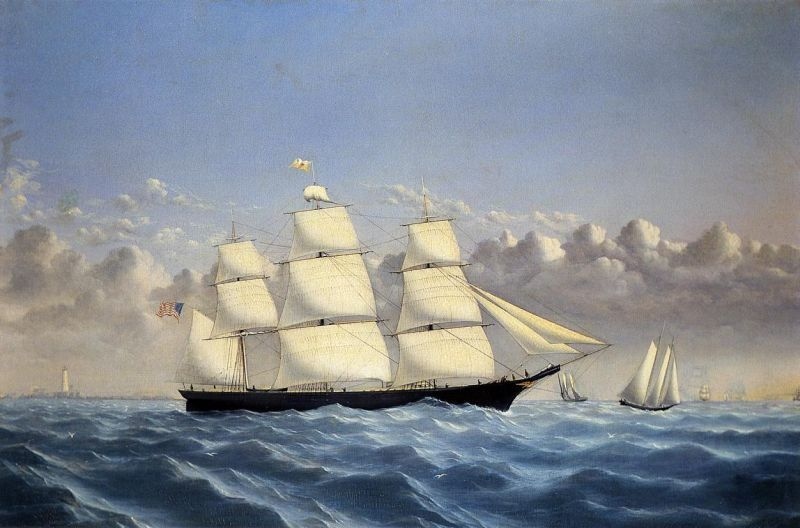 William Bradford Clipper Ship 'Golden West' of Boston, Outward Bound