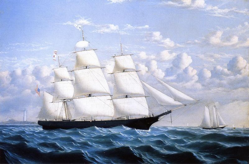 William Bradford Clipper Ship 'Northern Light' of Boston