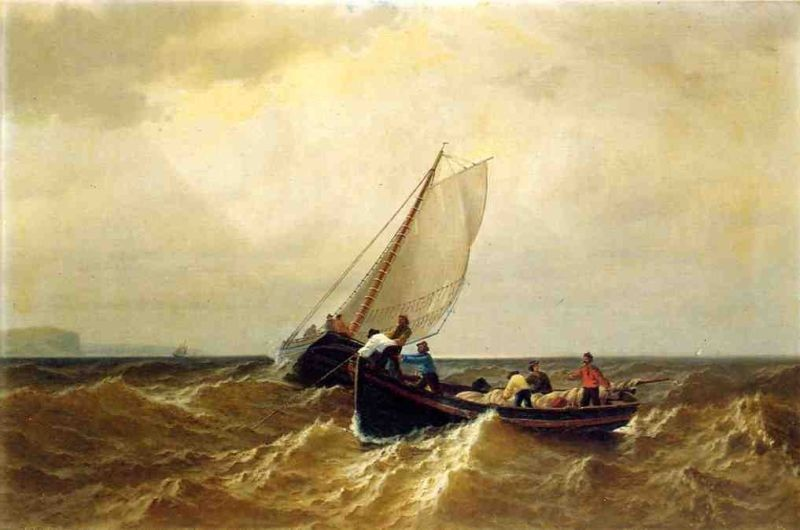 William Bradford Fishing Boat in the Bay of Fundy