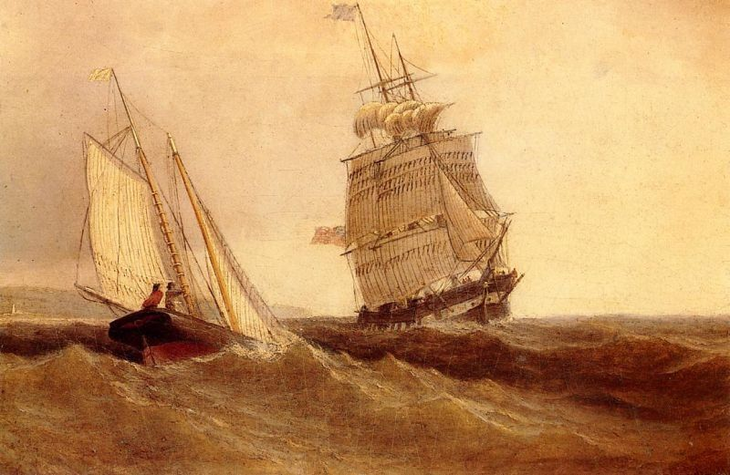 William Bradford Passing Ships