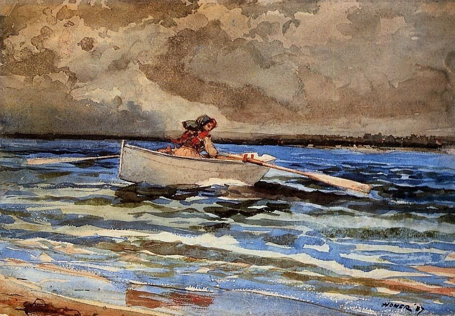 Winslow Homer Rowing at Prout's Neck