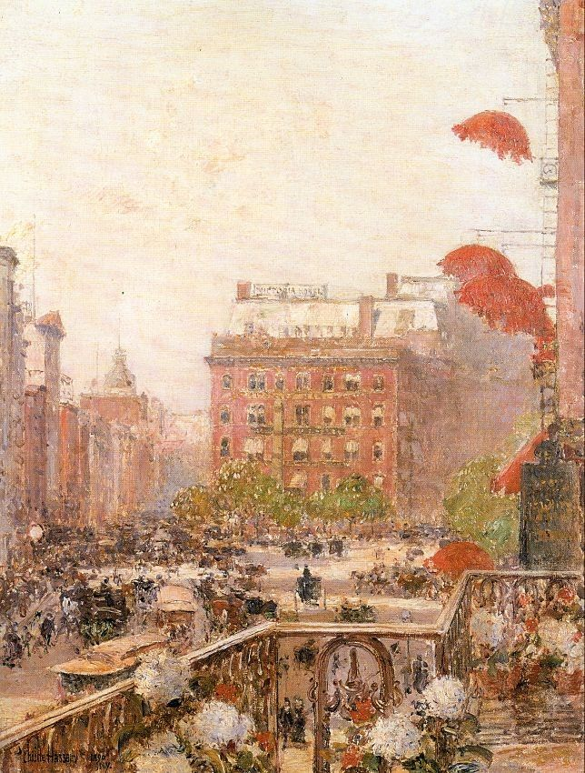childe hassam View of Broadway and Fifth Avenue