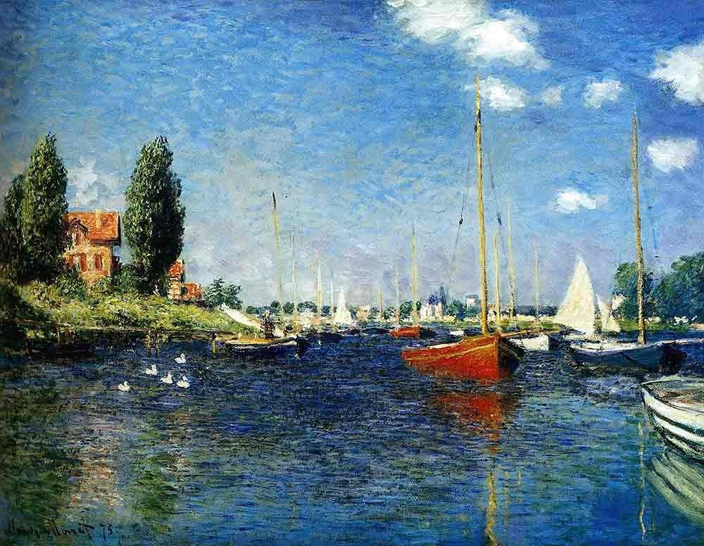 Claude Monet The Red Boats Argenteuil