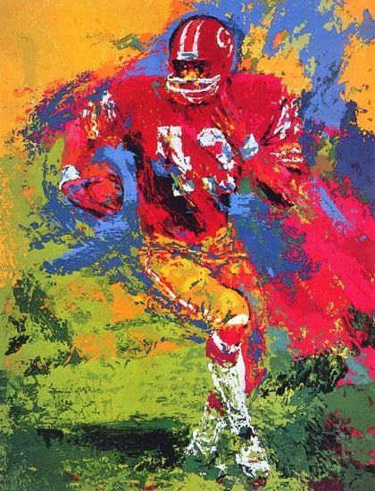 Leroy Neiman End Around Larry Brown