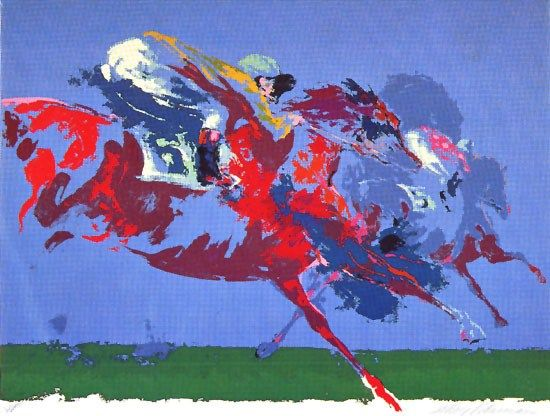 Leroy Neiman In The Stretch