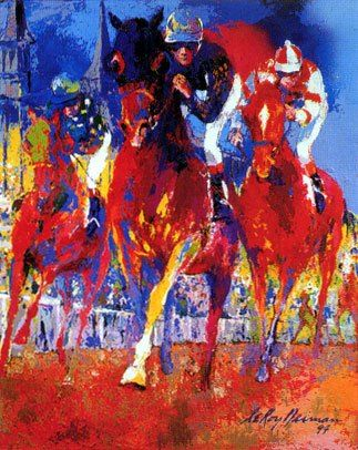 Leroy Neiman Kentucky Racing