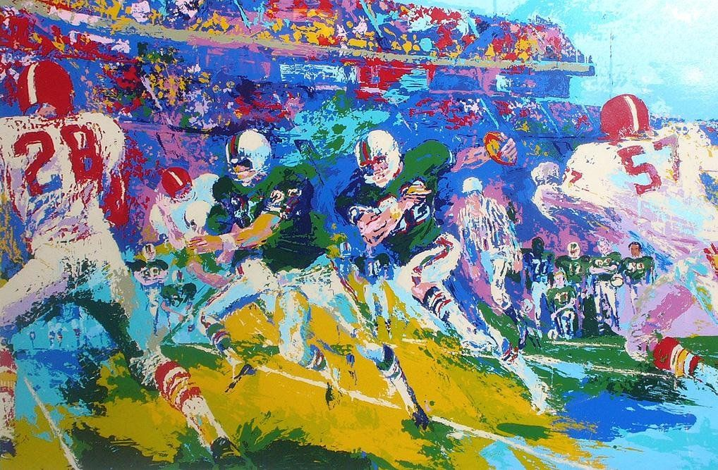 Leroy Neiman Rushing Back
