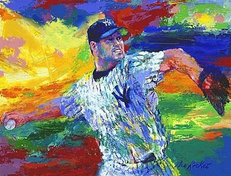 Leroy Neiman The Rocket Roger Clemens