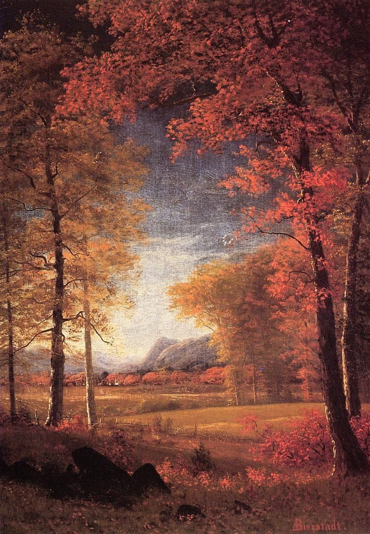 Albert Bierstadt Autumn in America Oneida County New York