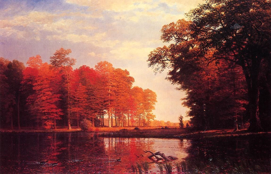 Albert Bierstadt Autumn Woods