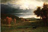 Albert Bierstadt Autumn Landscape The Catskills painting