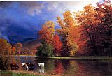 Albert Bierstadt On the Saco painting