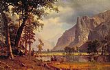 Landscape paintings - Yosemite Valley by Albert Bierstadt