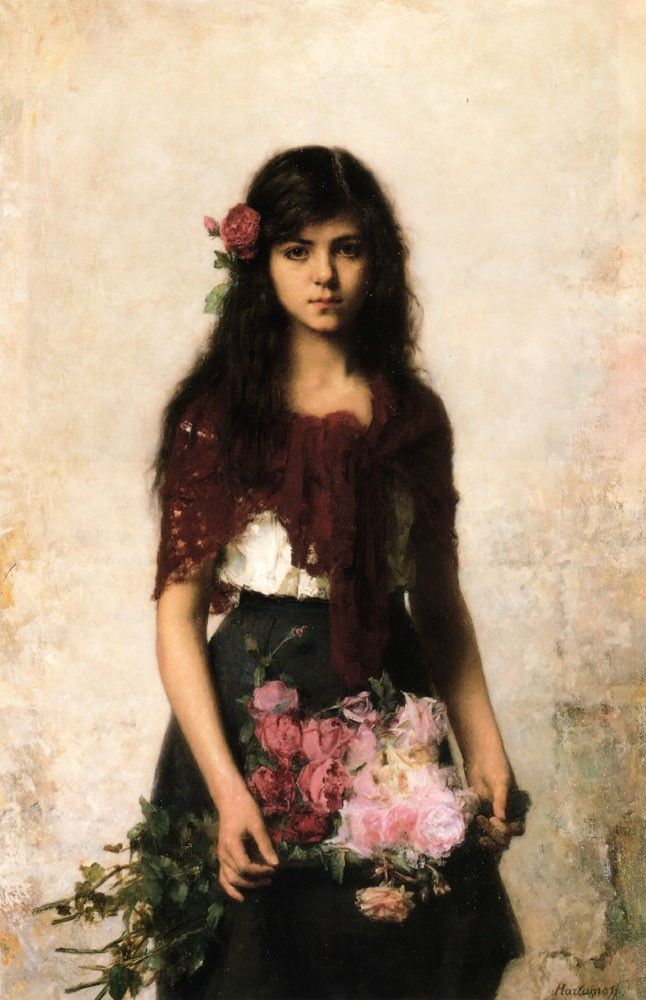Alexei Alexeivich Harlamoff The Flower Seller