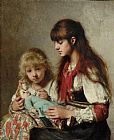 Alexei Alexeivich Harlamoff Sisters painting