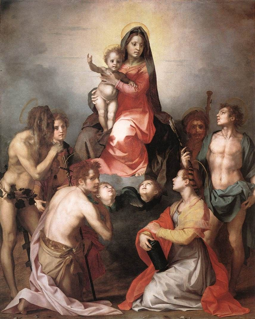 Andrea del Sarto Madonna in Glory and Saints
