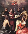 Andrea del Sarto Disputation over the Trinity painting