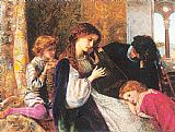 Arthur Hughes A Music Party painting