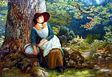 Arthur Hughes Asleep in the Woods painting
