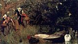 Arthur Hughes The Lady of Shalott painting