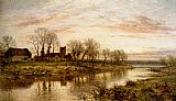 Benjamin Williams Leader Evening On The Thames At Wargrave painting