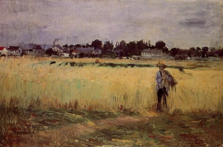 Berthe Morisot In the Wheat Fields at Gennevilliers