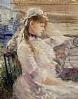 Berthe Morisot Behind the Blinds painting
