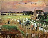 Berthe Morisot Hanging out the Laundry to Dry painting