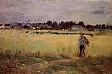 Berthe Morisot In the Wheat Fields at Gennevilliers painting