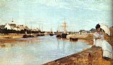 Church paintings - The Harbor at Lorient by Berthe Morisot