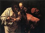 Caravaggio The Incredulity of Saint Thomas painting
