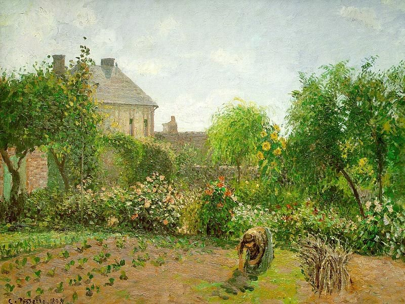 Camille Pissarro The Artist's Garden at Eragny