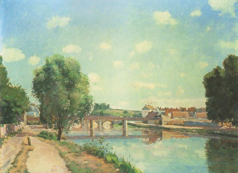 Camille Pissarro The Railway Bridge at Pontoise