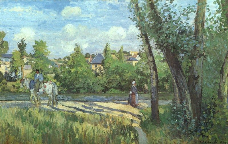 Camille Pissarro Sunlight on the Road - Pontoise