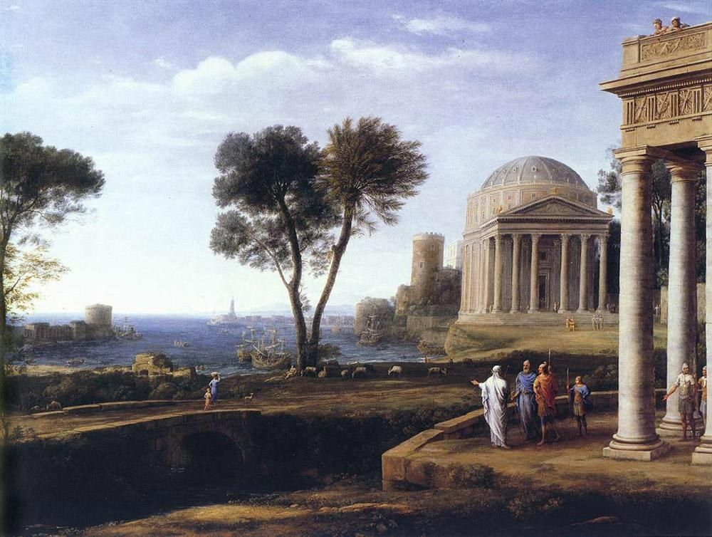 Claude Lorrain Landscape with Aeneas at Delos