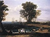 Claude Lorrain Coast Scene with the Rape of Europa painting