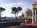 Claude Lorrain Landscape with Aeneas at Delos painting