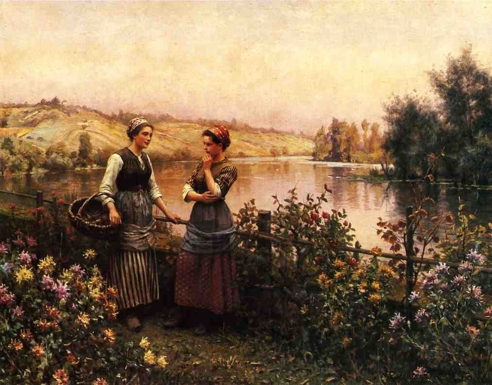 Daniel Ridgway Knight Stopping for Conversation