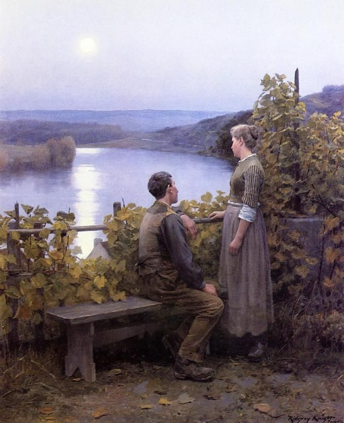 Daniel Ridgway Knight Summer Evening