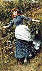 Daniel Ridgway Knight A Summer's Folly painting